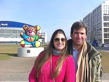 Gruppe Fr Brennand und Hr Marcela, Brasilien, in Berlin,  07/03/2014