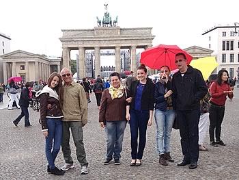 Família Krindges, Brasilien,  in Berlin, 21/06/2014