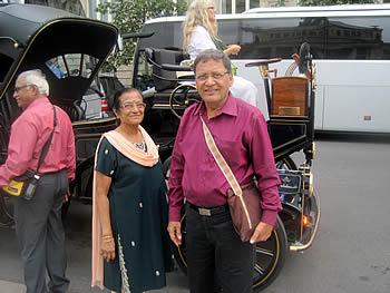 Pareja Jain, India, en Berlín, 08/08/2016