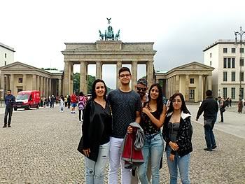 Família Ramos, Brasil, em Berlim, 10/07/2017