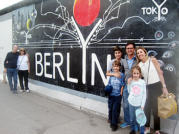 Família Gonçalves, Brasil, em Berlim, 10/07/2018