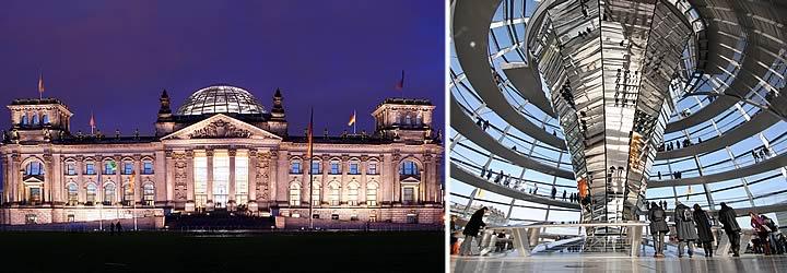 Reichstag (la sede del parlamento alemán)