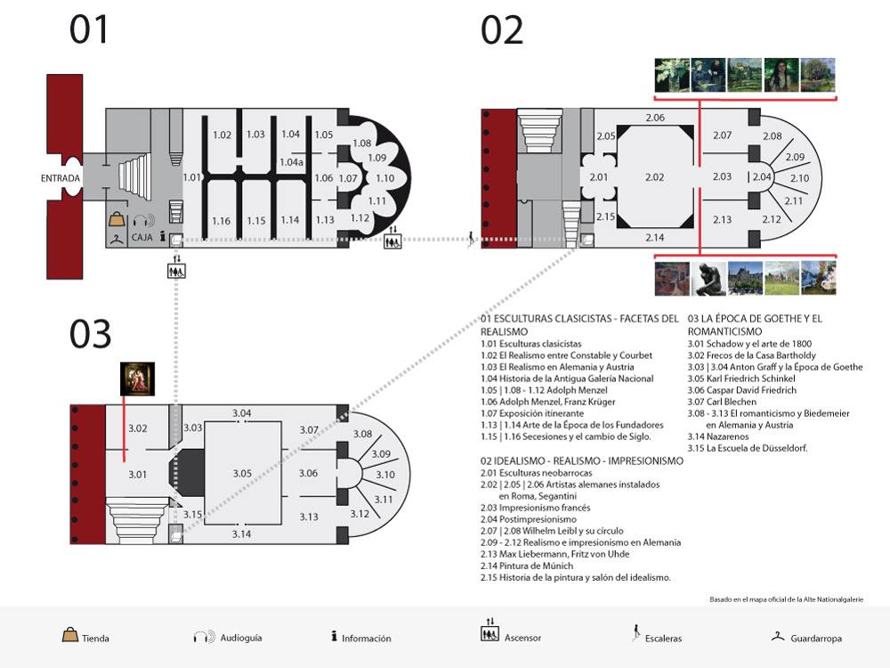 Mapa Galeria Nacional Antigua