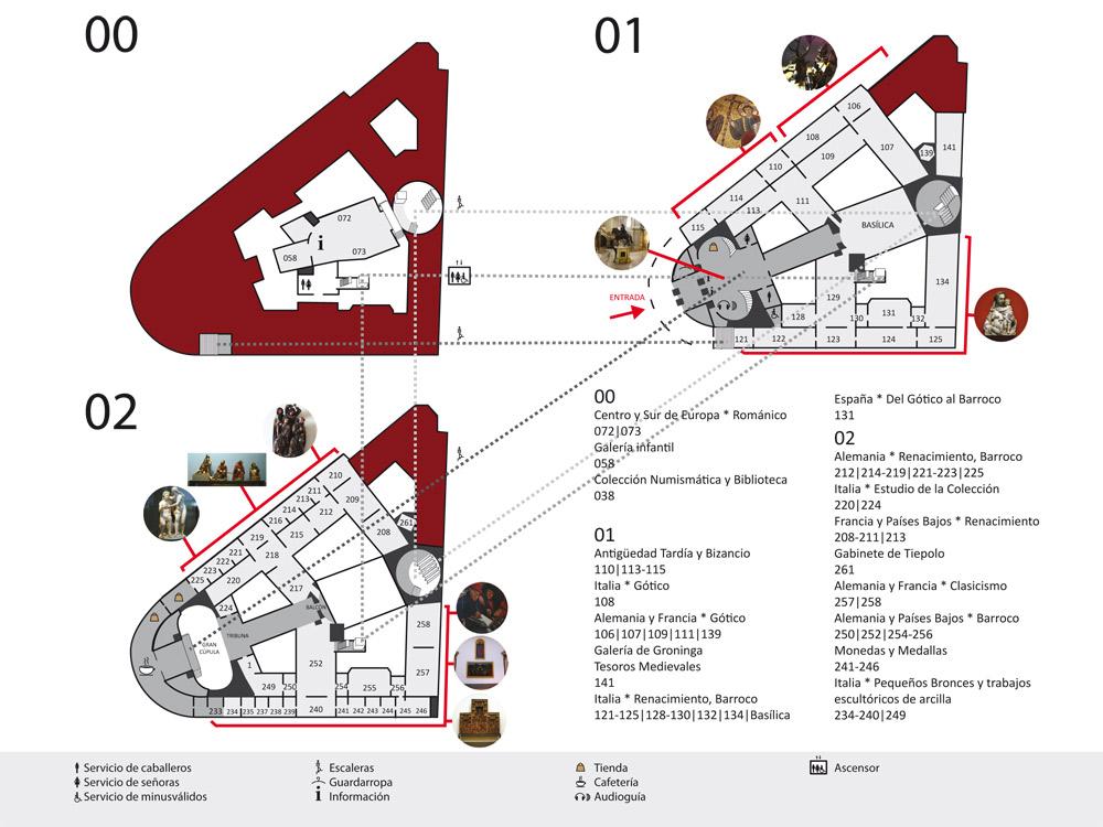 Mapa Museo Bode
