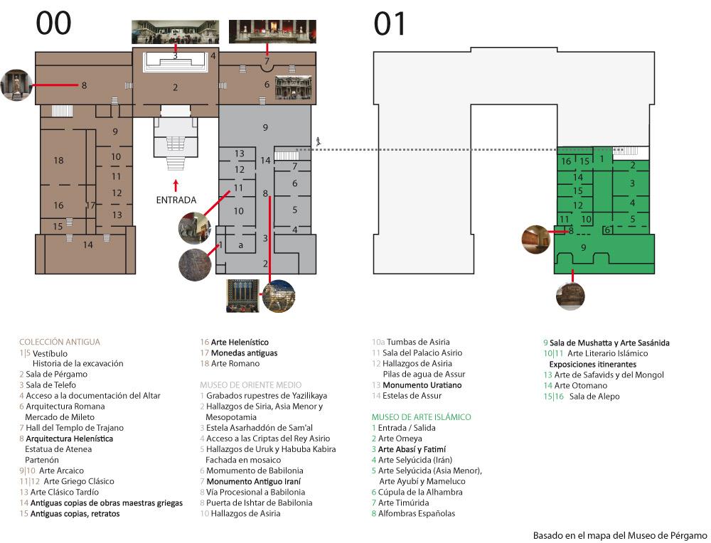 Mapa Museo de Pérgamo